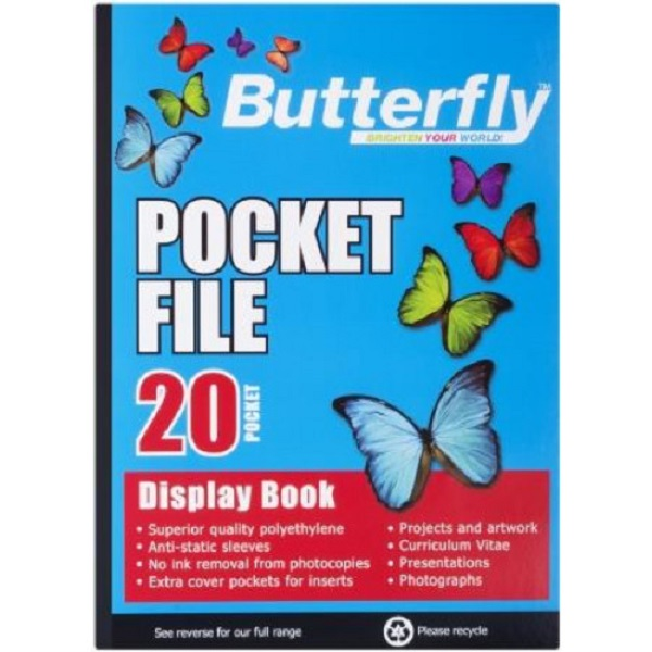 Flip File  Display Book A4 20 Pockets