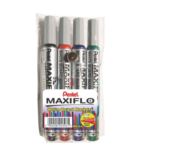 MARKERS - WHITE BOARD PACK OF 4 PENTEL