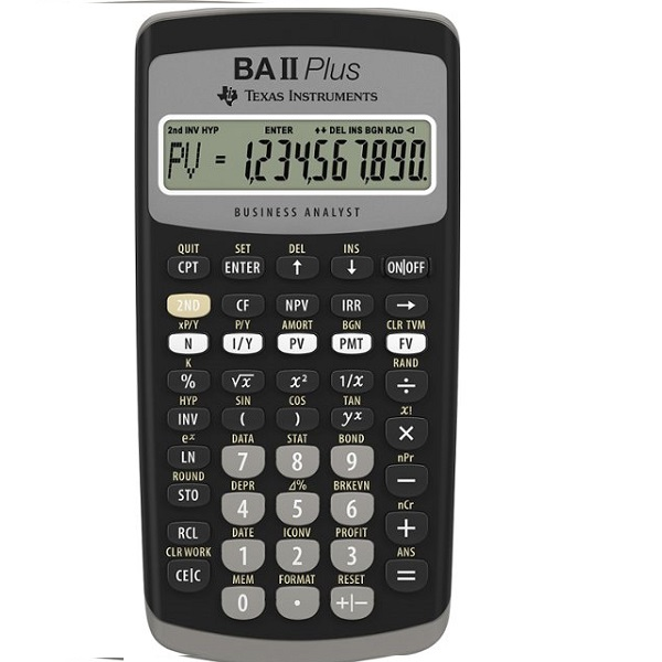 CALCULATOR FINANCIAL PROFESSIONAL TEXAS BAII+