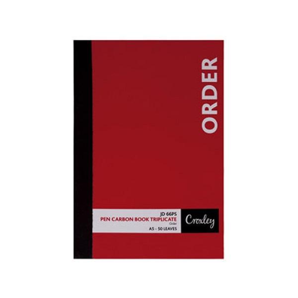 BOOK P/C ORDER TRIPLICATE A5 JD66PS