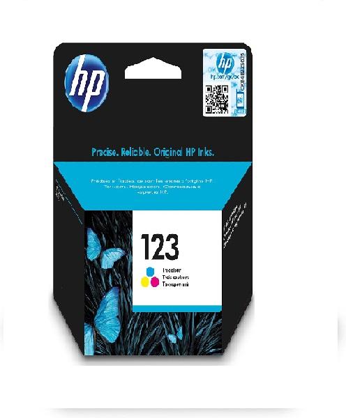 INK CARTRIDGE HP 123 TRI-COLOUR: F6V16AE