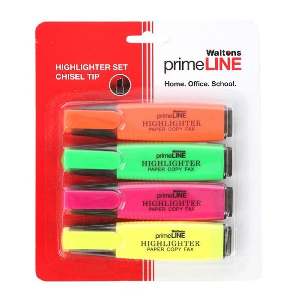 HIGHLIGHTER PRIMELINE PASTEL ASS (WP22)SET 4