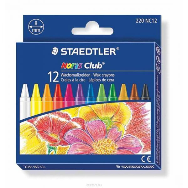CRAYON WAX STAEDTLER, 12 COLOURS