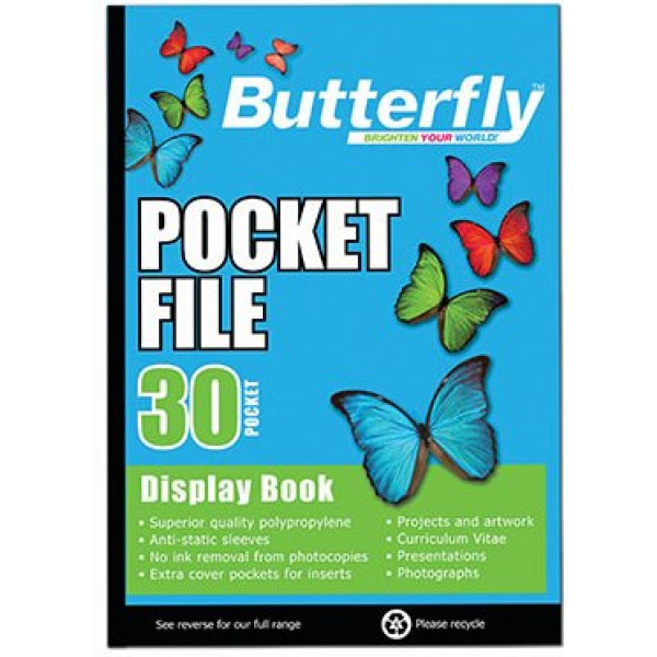 DISPLAY BOOK BUTTERFLY  30  X 2 SETS