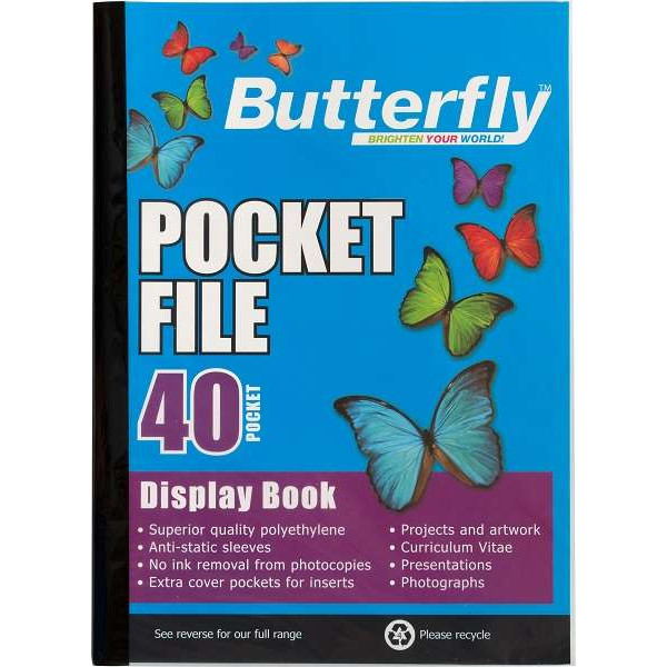DISPLAY BOOK BUTTERFLY 40 PAGES