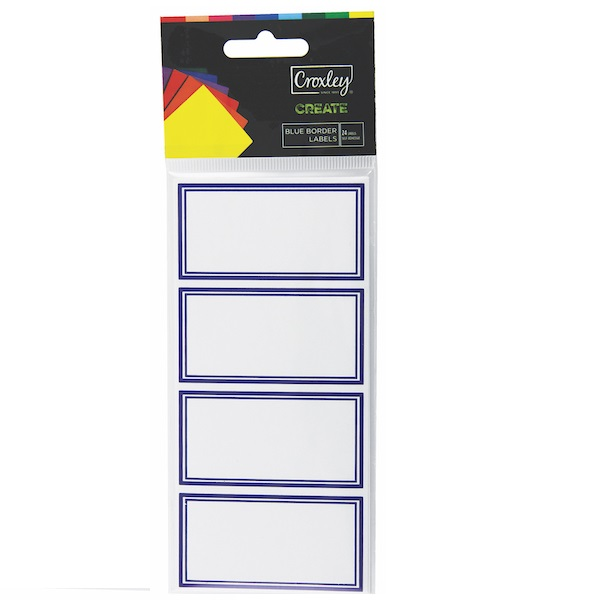 BOOK LABELS BLUE BORDER CRX 24'S LBP3104