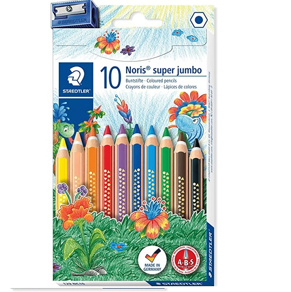 COLOUR PENCIL STAEDTLER JUMBO+SHAR 178-S BK PKT-10