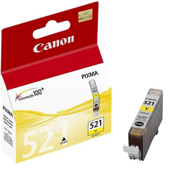 INK CARTRIDGE CANON CLI-521 YELLOW