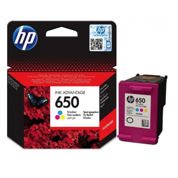 INK CARTRIDGE HP 650 COLOUR: CZ102AE