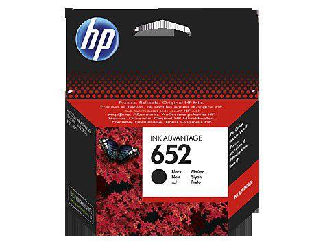 INK CARTRIDGE HP 652 BLACK F6V25AE
