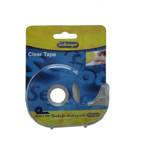 SELLOTAPE CLEAR & DISP 18X15 TPV8450