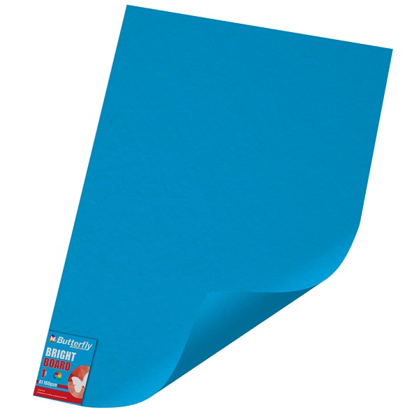 PAPER BOARD A1 BRIGHT BLUE BRD234 160GSM B/FLY-WRA