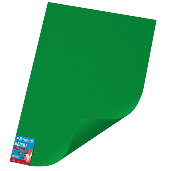PAPER BOARD A1 BRIGHT GREEN BRD234 160GSM WRAPPED