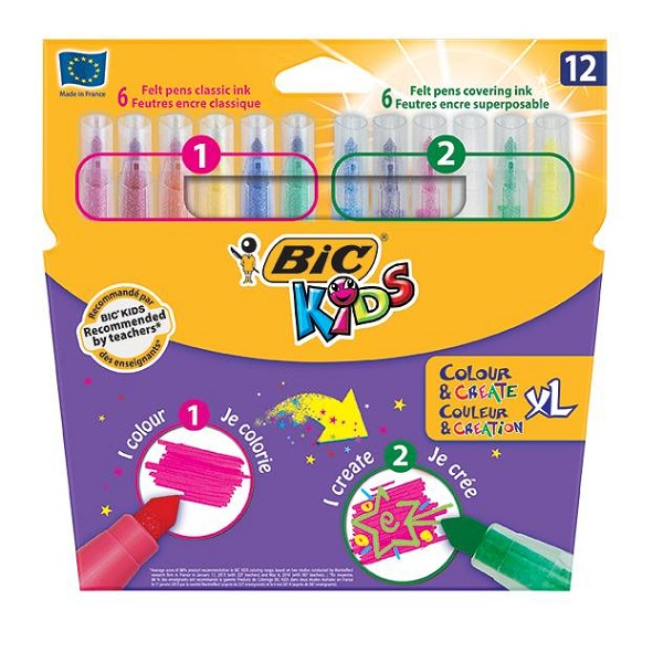 COLOR & CREATE KIDS BIC MIN WALLET 12