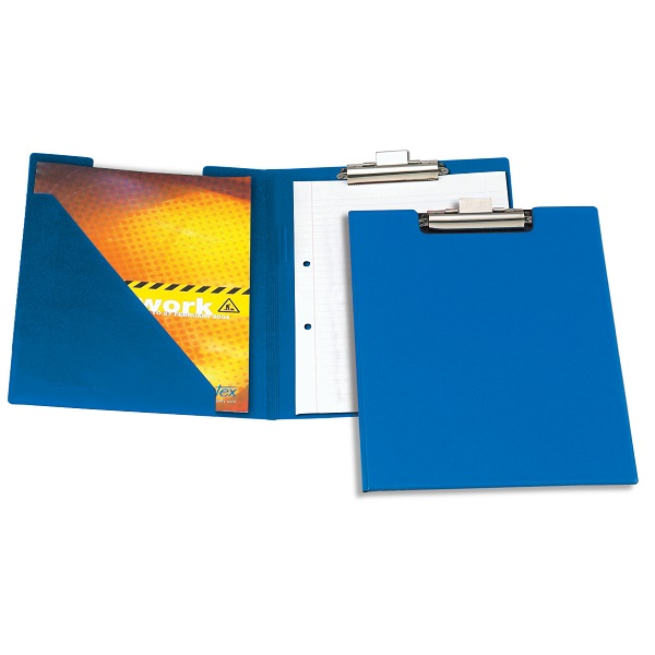 CLIPBOARD FOLDING A4 B4210-01 PVC BLUE