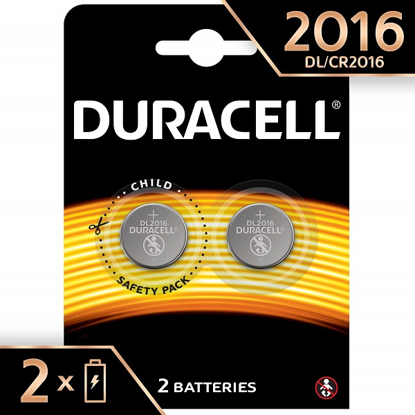 BATTERIES DURACELL 3V LITHEUM CR2016 - PACK 2
