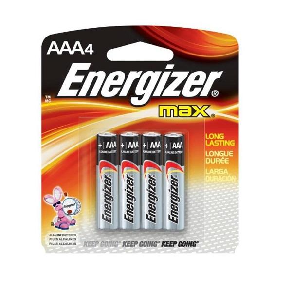 BATTERY ENERGIZER MAX AAA 4PCS: E92BP4(AAA)