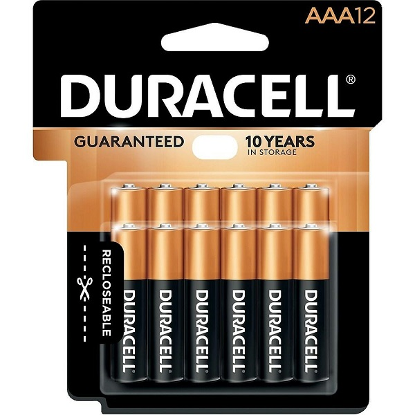 BATTERIES DURACELL POWER PLUS AAA PACK-12