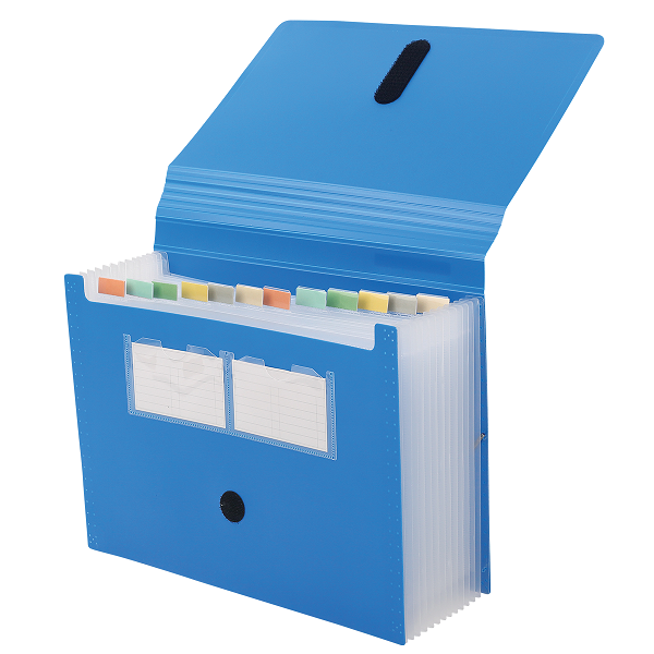 FILE BANTEX EXPANDING 13 POCKETS BLUE B3600-11